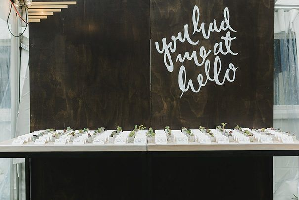 SARA + JEAN // #wedding #sign #signage #reception #typography #newzealand