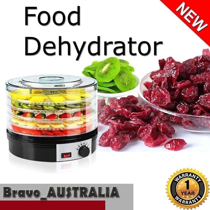 Round Food Dehydrator Commercial Preserve Yogurt Fruit Dryer Jerky Maker 5 Trays