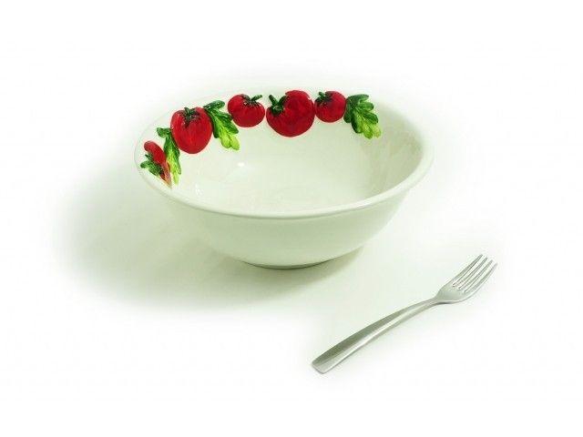 Miska ceramiczna Tomato śr. 27 cm #leceramiche #ceramika #włoska #ceramics #italian #italianfood #italiano #tomato #pomidory #misa #miska #bowl #highquality #giftideas #gadgets #home #inspirations #design #homedecor #onemarket.pl