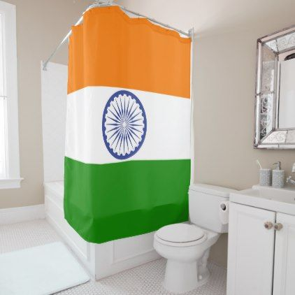 #The National Flag of India Shower Curtain - #Bathroom #Accessories #home #living