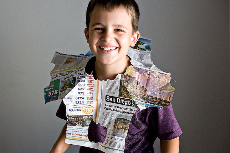 I think every kid should know how to make a newspaper hat. It can transform you from a normal kid to a sailor, a soldier, a pirate - whatever you want to be! There's something about props that helps you get into character. I used to love making these hats.