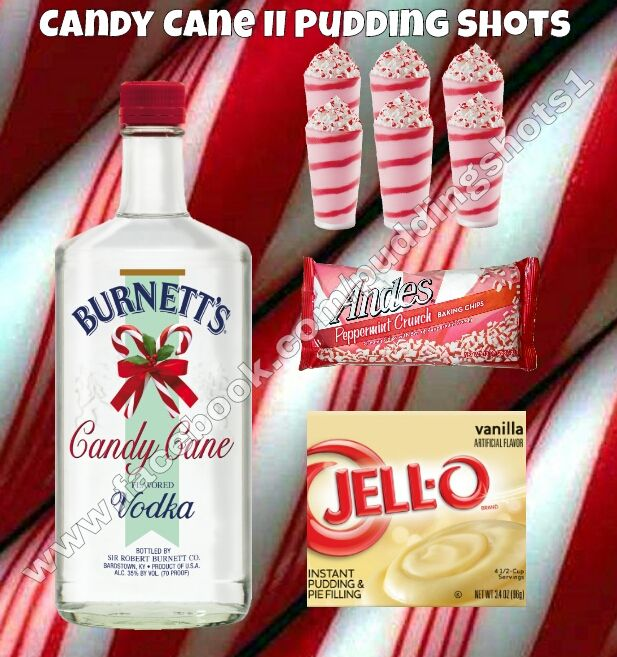 Candy Cane II Pudding Shots. See Full Recipe And More On