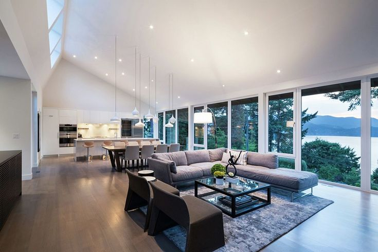 Open plan living space with mesmerizing view of the natural landscape