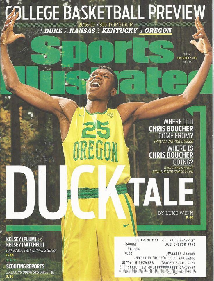 Chris Boucher Oregon Basketball Sports Illustrated Magazine Nov 7 2016   #doesnotapply