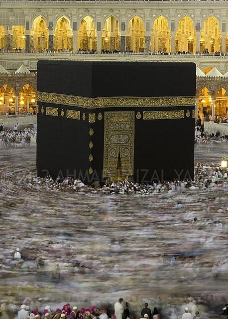 Kaabah in Makkah, Saudi Arabia .