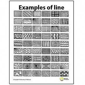 Line Pattern Handout One Page Elements of Art Principles of Design Visual Arts – Michelle Cope