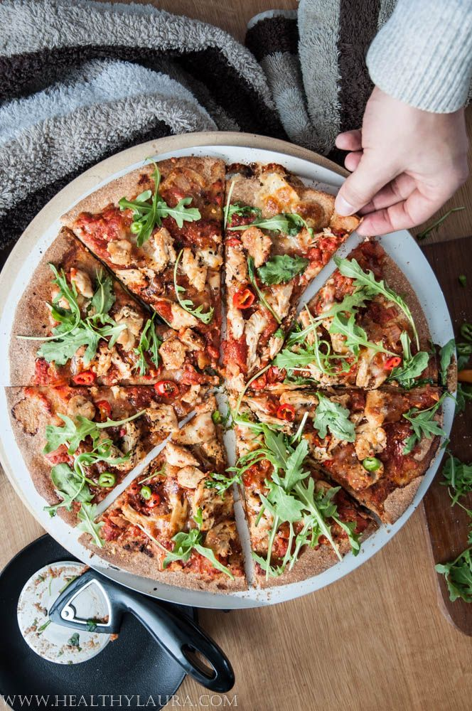 Wholegrain Hot Chiken Pizza This recipe here is also made with wholegrain crust and the topping is quite spicy. Pizza in my home is something that my boyfriend always look forward to. Quite often I have the question that when are you gone make it again? When?
