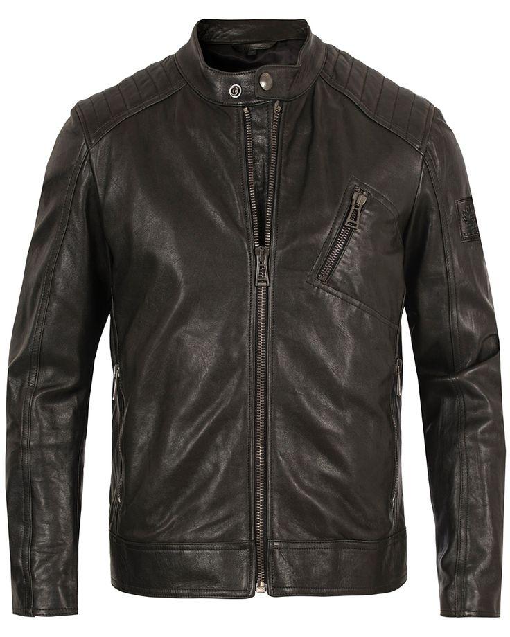 Belstaff V Racer Leather Jacket Black i gruppen Jackor / Skinnjackor hos Care of Carl (13660711r)