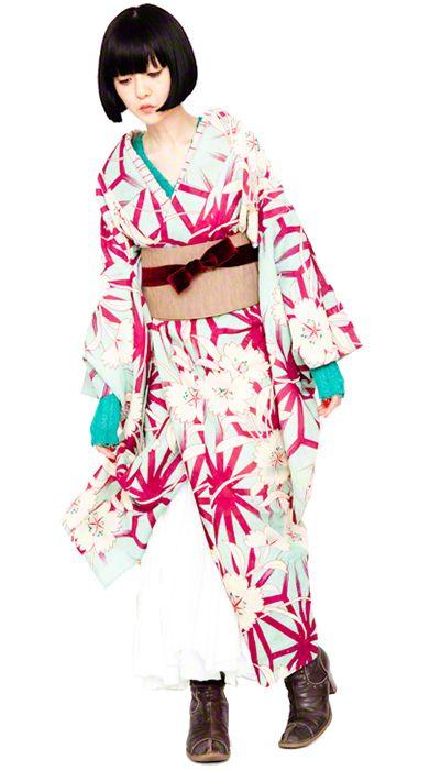 Relaxed modern kimono inspiration and style, by Kimono no Kokoro