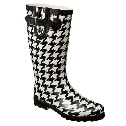 Merona® Zakia Houndstooth Rain Boots $24.99