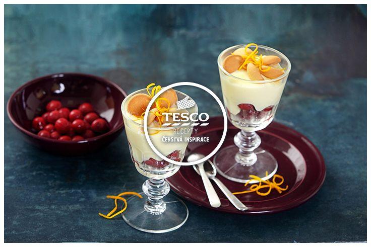 Vanilkový puding s piškoty třešněmi a pomerančovou kůrou  http://www.tescorecepty.cz/recepty/detail/109-vanilkovy-puding-s-piskoty-tresnemi-a-pomerancovou-kurou
