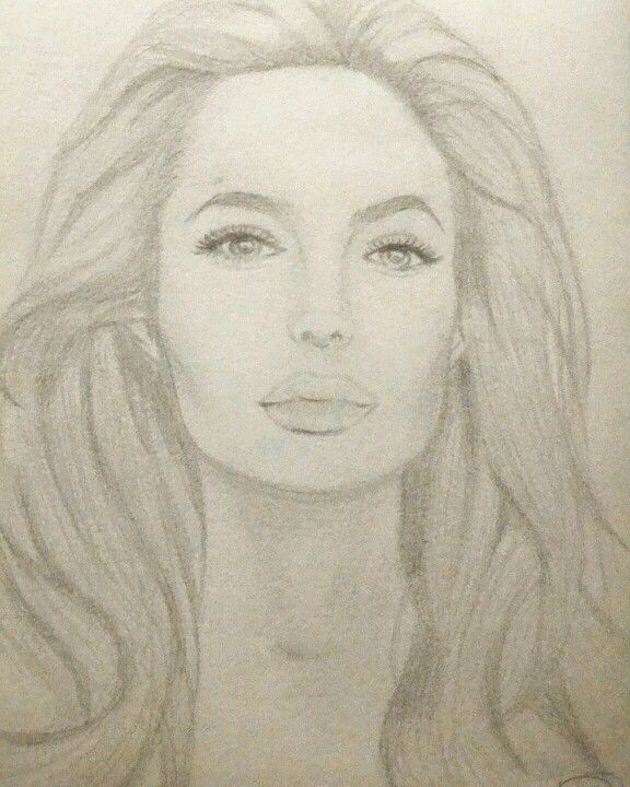 Angelina Jolie attempt  (Pencil sketch)