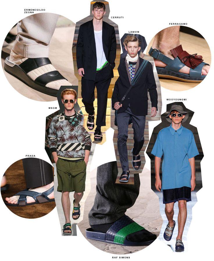 Inspiração de looks masculinos com chinelos, sandálias e papetes. Street style, moda masculina