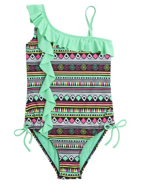 Shop Aztec One Piece Swimsuit and other trendy girls one piece swimwear at Justice. Find the cutest girls swimwear to make a statement today.