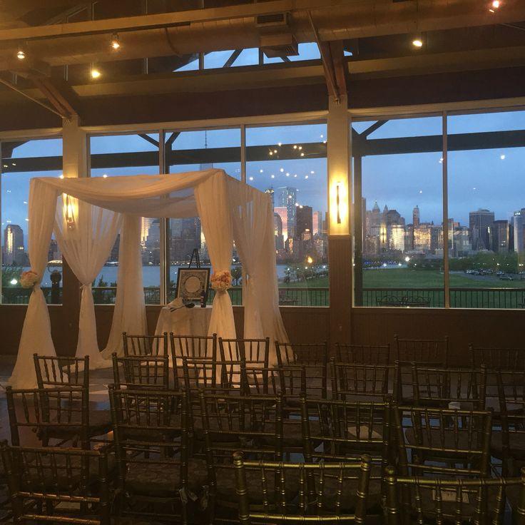 Su0026Ju0027s Chuppah Wedding Canopy with a view! Sunset ceremony with Lower Manhattan Island backdrop from & 31 best Chuppah The Wedding Canopy images on Pinterest   Wedding ...