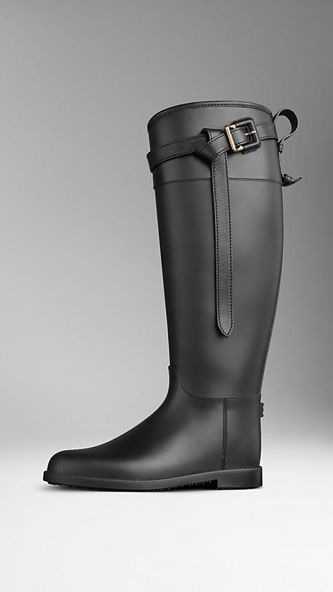 Belted Equestrian Rain Boots | Burberry  On my wish list!