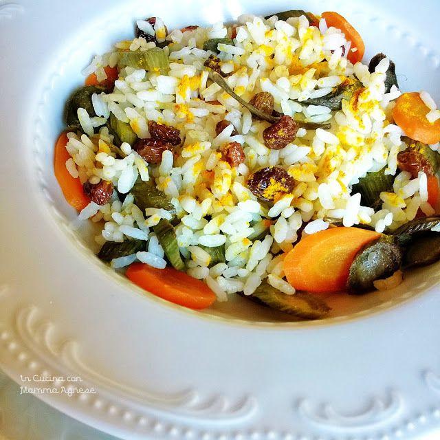 In Cucina con Mamma Agnese: Riso tiepido con verdure e curcuma - Ricetta Esoti...