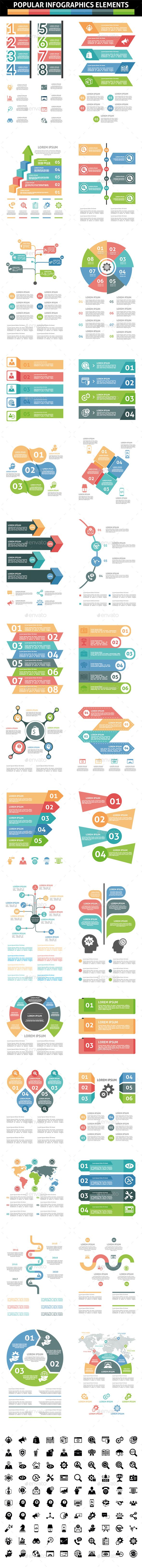 Popular Infographic Elements - #Infographics