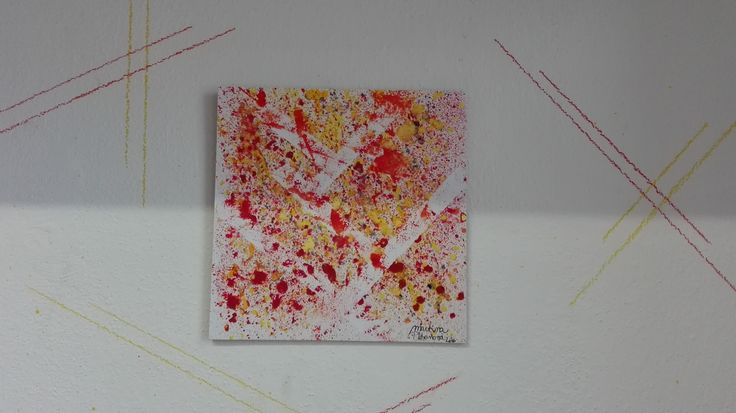 I love spots. Why? Because you never know where the spill goes :D :D #ABSTRACT