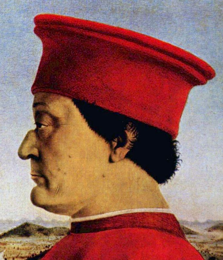 Portrait of Federico Montefeltro - Duke of Urbino by Piero della Francesca ca 1465