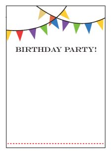 word birthday invitation template