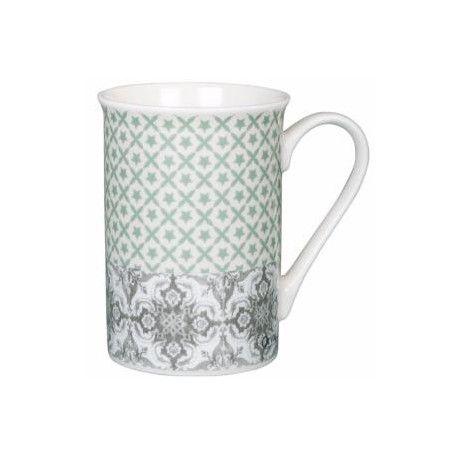 Mug en céramique, collection HERITAGE AUTHENTIQUE, d' ORVAL CREATIONS.  Diamètre : 7.5 cm  Hauteur : 10 cm