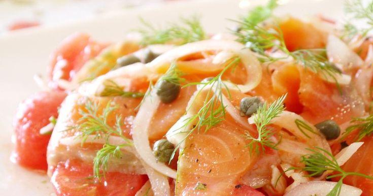 20100517話題入り感謝♡「アピタ・ピアゴ」のレシピカードに掲載。相性のよい素材を使った前菜風のサラダです。