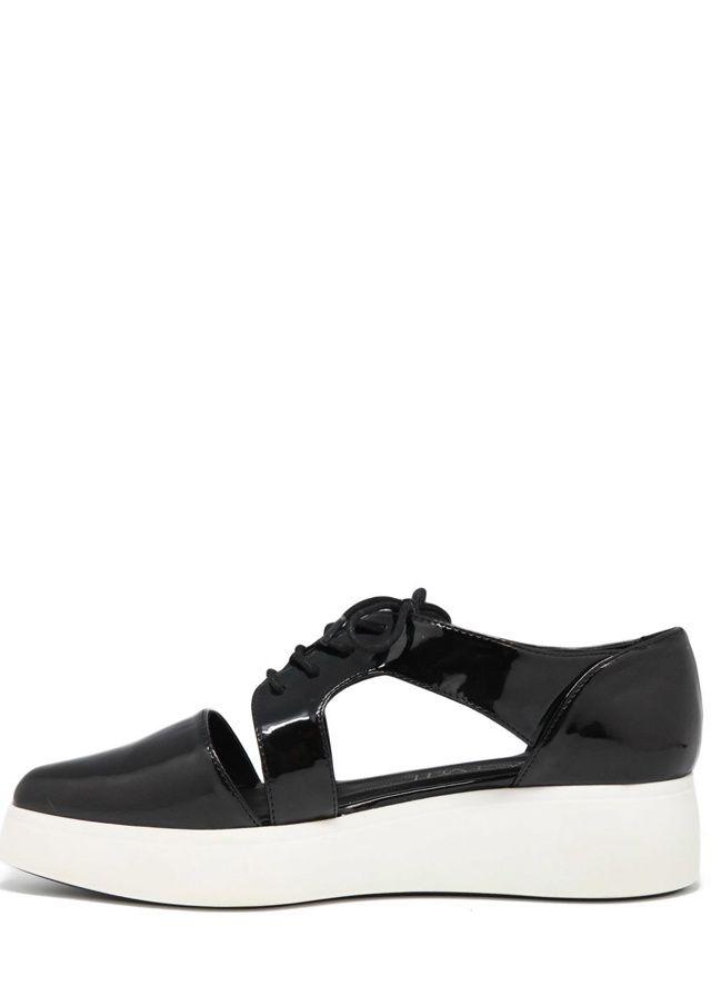 Černé boty na platformě s průstřihy Sixtyseven(305454) - 5