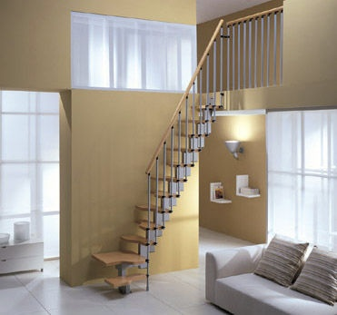 small staircase for loft rooms