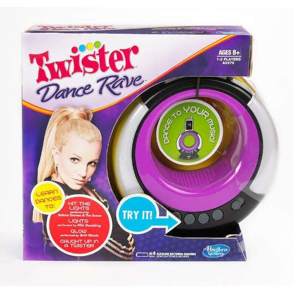 Twister Now:    Forget simplicity; Twister Dance Rave ﴾$15, originally $35﴿ is the dancing version of the classic game. Learn dance moves by following the  lights and stepping on the moveable spots, all while connecting to an MP3 player.