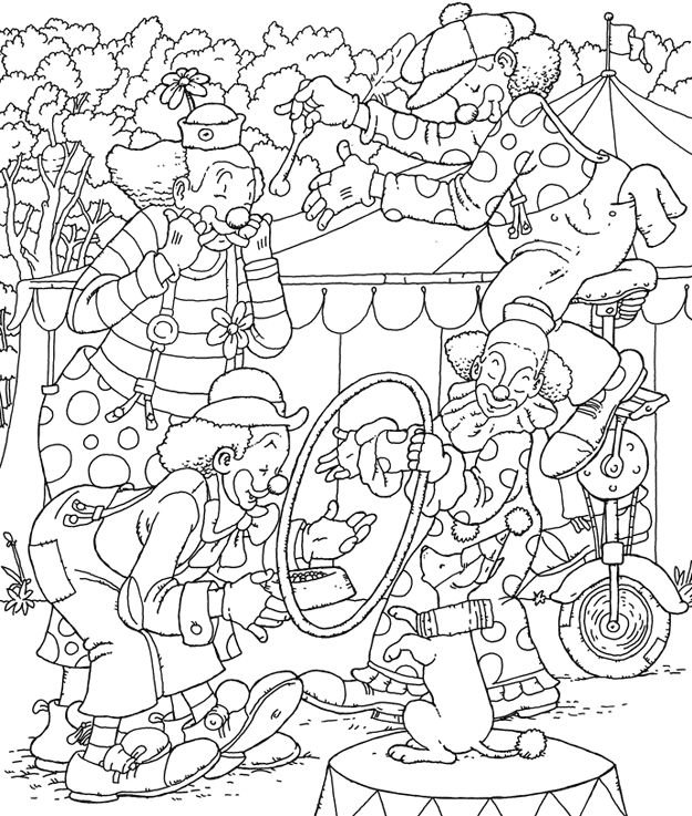 circus cages coloring pages - photo#25