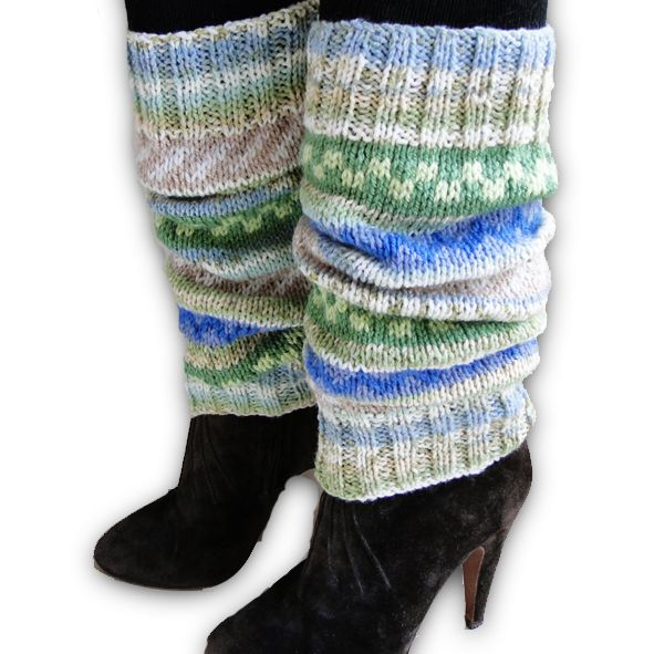 Fairisle Designer Leg Warmers