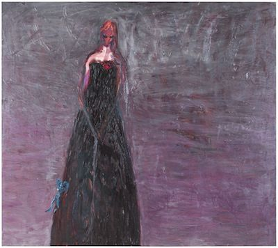 """Painting by Nanna Susi (FInland) """"Coming going thief"""", oil on canvas, 160 x 180 cm, 2014"""