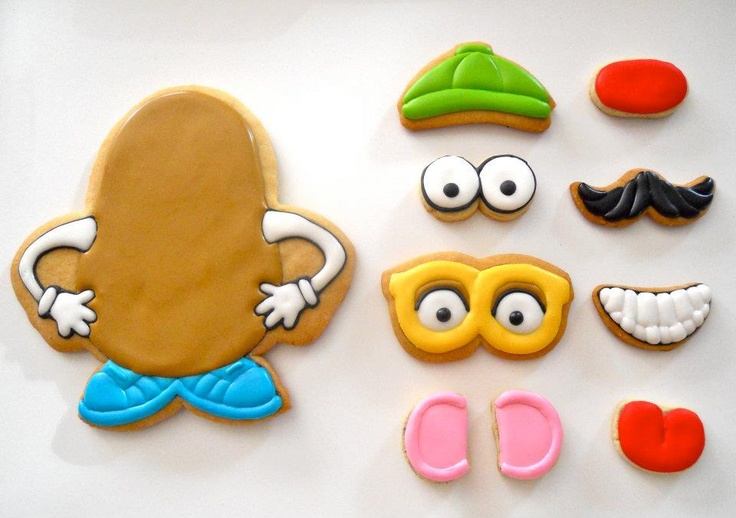 Mr. Potato Head cookies from Oh! Sugar Events