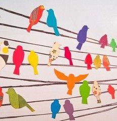 Oiseaux et lignes horizontales