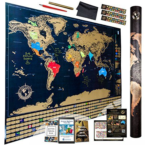 Scratch Off Map Ultimate Pack (World, USA, and Europe) | 3 ... on