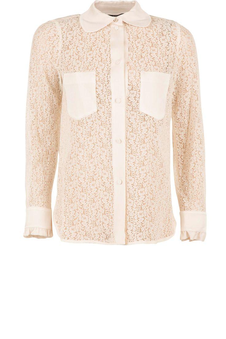 Kanten blouse Jaela | wit van Tara Jarmon op www.littlesoho.com