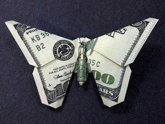Folding Money Into Christmas Tree