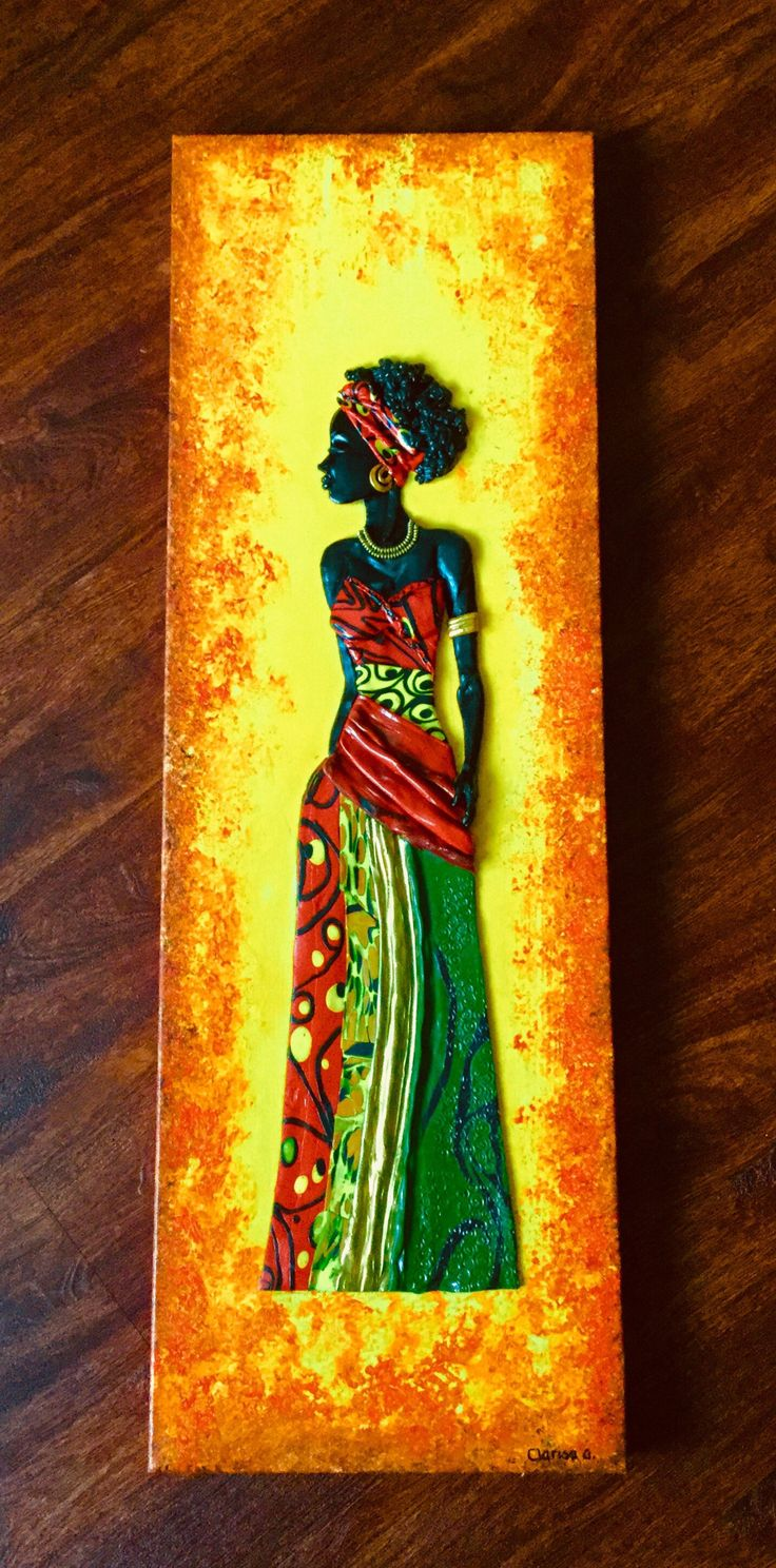 Excited to share the latest addition to my #etsy shop: African Beauty: African woman,Original painting. Mixed media.