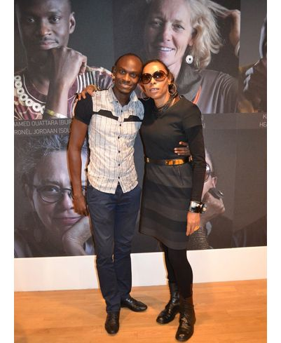 Adele and Hamed of Design Network Africa at the Graphic Africa launch during London Design Festival