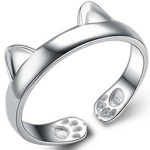 Cute Cat Adjustable Ring