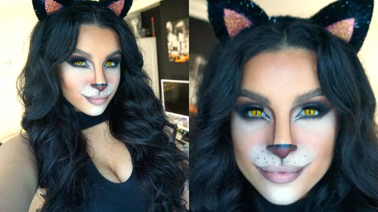 Feline Glam Halloween Makeup Tutorial | 2015 | Makeup By Leyla