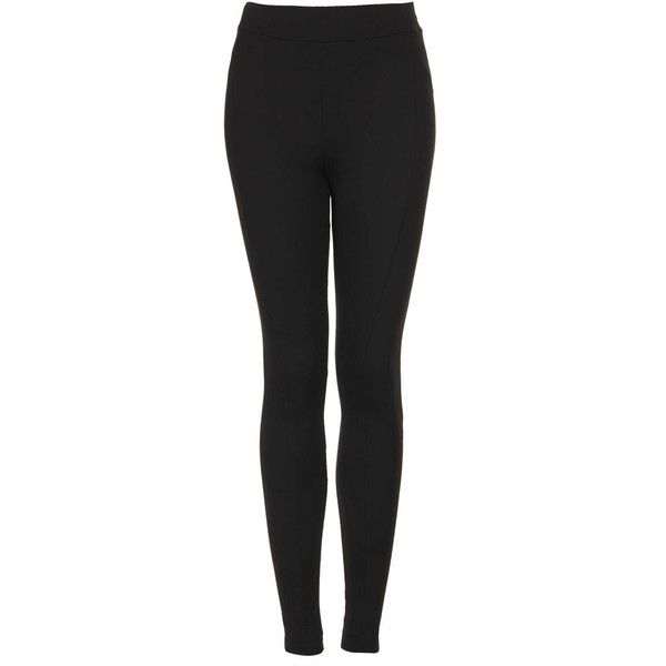 TOPSHOP Heavyweight Ponte Seam Leggings (37 CAD) ❤ liked on Polyvore featuring pants, leggings, bottoms, jeans, calças, black, black leggings, black pants, topshop and ponte pants