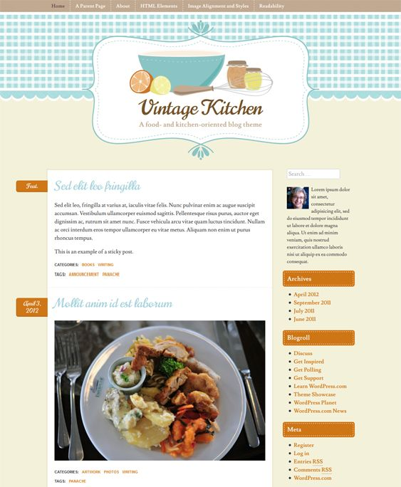 12 mejores imgenes de 12 more of the best wordpress themes for this wordpress theme for food and recipe websites comes with 4 preset color schemes cross forumfinder Choice Image