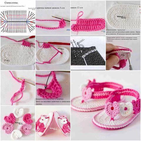 Todo para Crear ... : sandalias para beba en crochet de la web