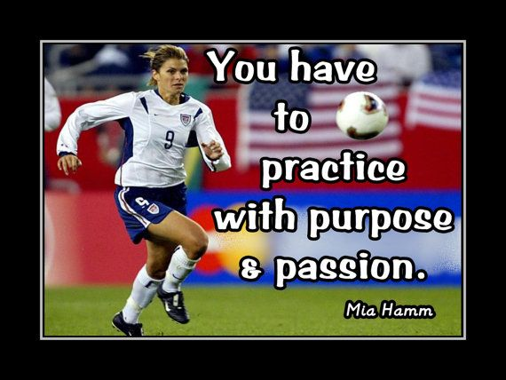 Soccer Poster Mia Hamm Soccer Champion Photo Quote by ArleyArt