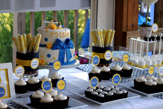 Cassie's Graduation Dessert Table by The Couture Cakery, via Flickr