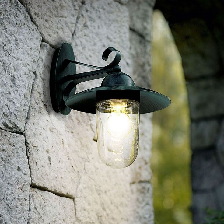 Robuste Aussenleuchte Wandlampe Design Antik Grn BxHxT 24x31x30 Cm Garten Balkon