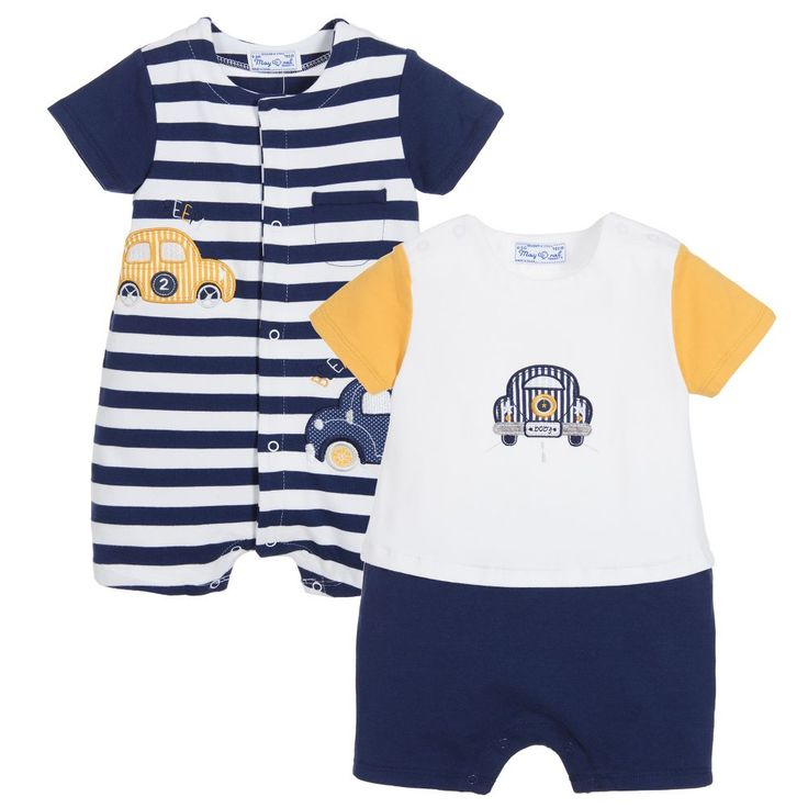 Mayoral Baby Boys Blue Shorties (Pack of 2) at Childrensalon.com