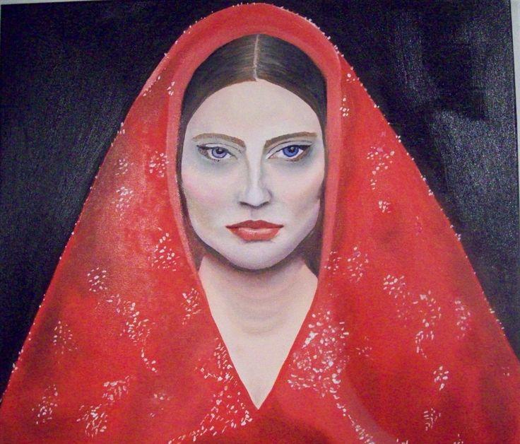 Klára Hošková, Woman in scarf, 2016